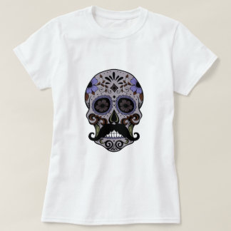 Day of the Dead Sugar Skull w/Mustache T-Shirt