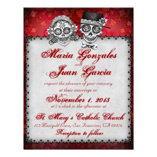 Day of the Dead Sugar Skull Wedding Invitations 2