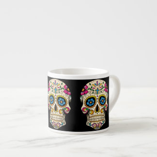 Day of the Dead Sugar Skull with Cross Espresso Cup