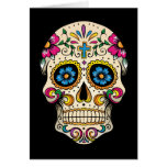 Day of the Dead Sugar Skull with Cross Greeting Card
