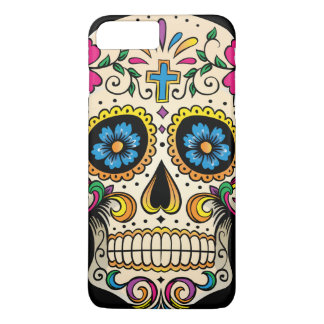 Day of the Dead Sugar Skull with Cross iPhone 8 Plus/7 Plus Case