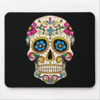 Day of the Dead Sugar Skull with Cross Mouse Mat