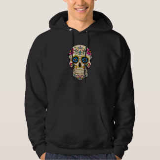 Day of the Dead Sugar Skull with Cross Pullover