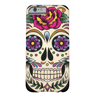 Day of the Dead Sugar Skull with Rose Barely There iPhone 6 Case