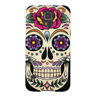 Day of the Dead Sugar Skull with Rose Galaxy S5 Covers