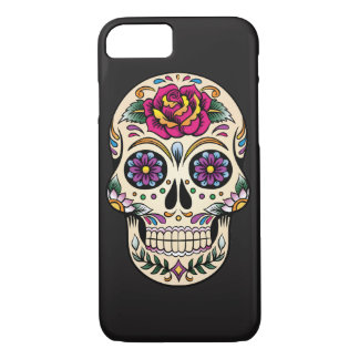 Day of the Dead Sugar Skull with Rose iPhone 8/7 Case
