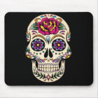 Day of the Dead Sugar Skull with Rose Mouse Mat