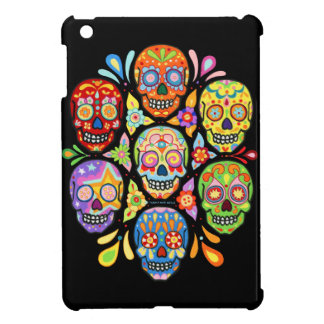 Day of the Dead Sugar Skulls Art iPad Mini Case