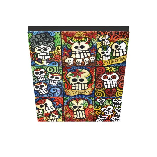 Day of the Dead Sugar Skulls Collection Canvas