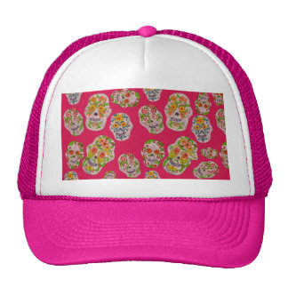 Day of the Dead Sugar Skulls Hat by S Ambrose
