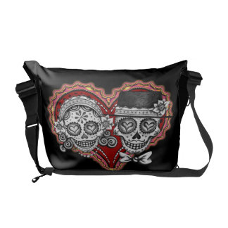 Day of the Dead Sugar Skulls Messenger Bag