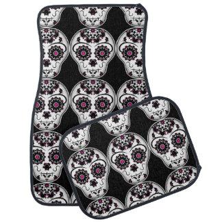 Day of the dead sugar skulls pattern car mat