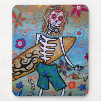 Day of the Dead Surfer Mouse Mat