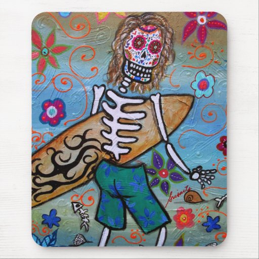 Day of the Dead Surfer Mousepads