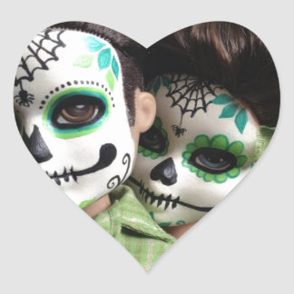 Day of the Dead Sweethearts Heart Sticker