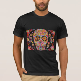 Day of the Dead T-shirt Sugar Skull Art