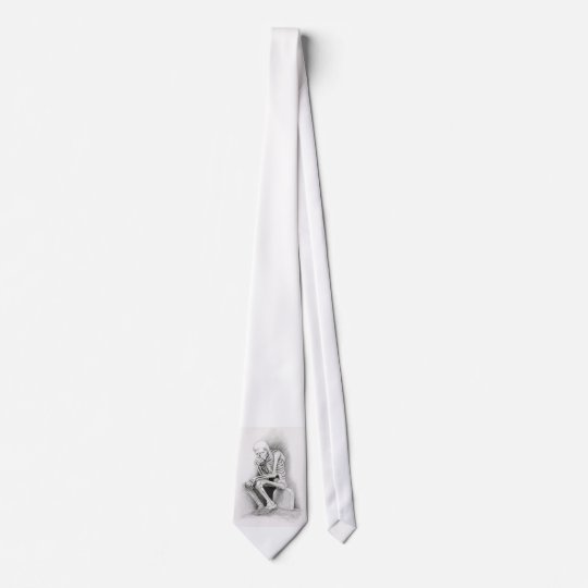 Day of the Dead Thinker Tie