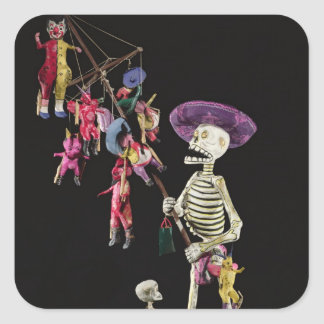 Day of the Dead: Toy Peddler, from Oaxaca Square Sticker