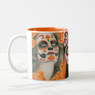 Day of the Dead Two-Tone Coffee Mug