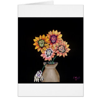 day of the dead vase card