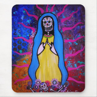 DAY OF THE DEAD VIRGEN GUADALUPE MOUSE MAT