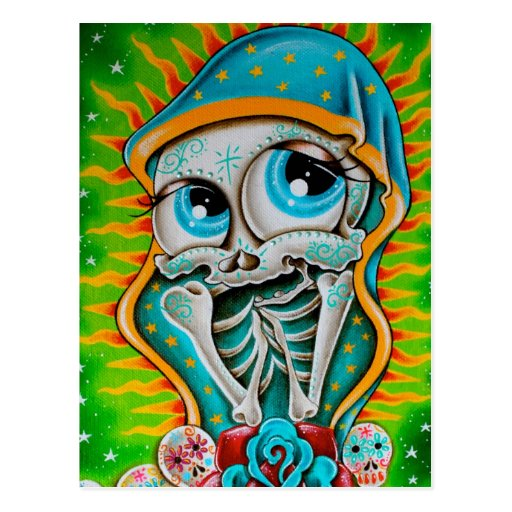 Day of the Dead Virgin Post Cards