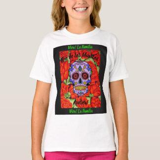 Day of the Dead Viva La Familia Kids YOUR NAME T-Shirt