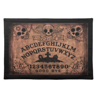 Day of the Dead witch board place mat