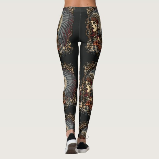 Day of the Dead woman Leggings
