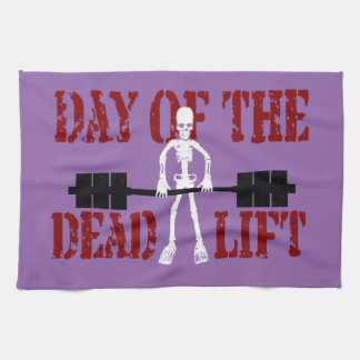 Day Of The DeadLift Tea Towel