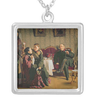Day of the Parting, 1872 Silver Plated Necklace