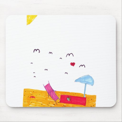 Day on the Beach Mouse Pads