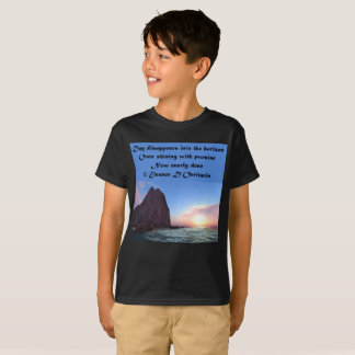 Day Recedes Poetry Kids' Hanes TAGLESS® T-Shirt