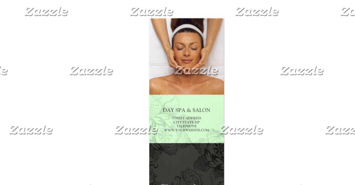 massage price list template - day spa massage therapy price list mint green zazzle