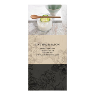 Day Spa Skincare Price List {Beige} Full Colour Rack Card