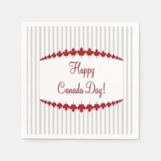 Day To Remember Canada Day Party Paper Napkins