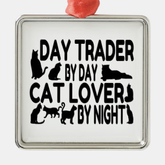 Day Trader Cat Lover Christmas Ornament