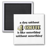 Day Without Coffee Funny Magnet Humour