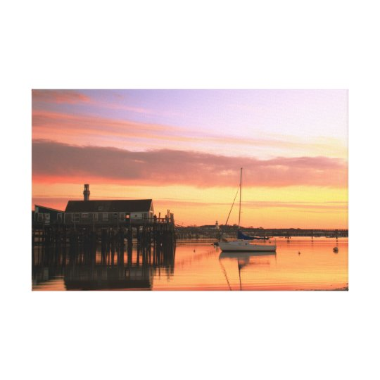 Daybreak at Provincetown Harbour Canvas Print
