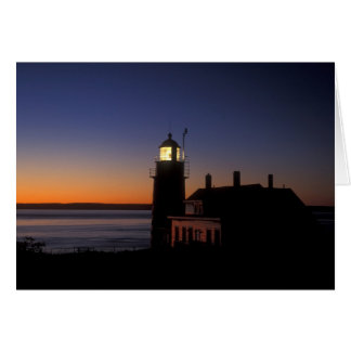 Daybreak at Quoddy Head Lighthouse, Maine Greeting Card