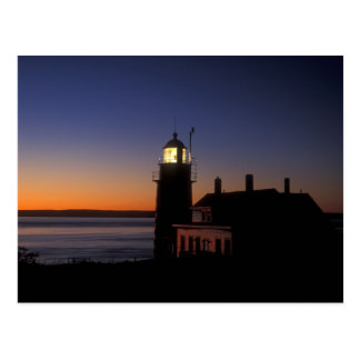 Daybreak at Quoddy Head Lighthouse Maine Postcard