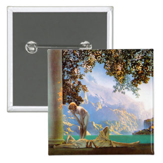 Daybreak - by Maxfield Parrish 15 Cm Square Badge