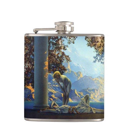Daybreak Vintage Maxfield Parrish Flasks
