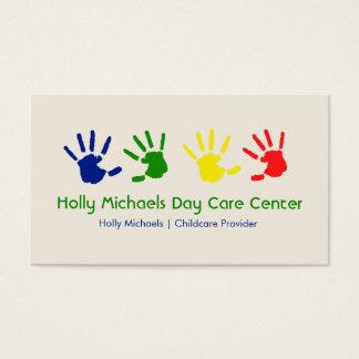 Daycare / Babysitter Handprints Business Cards