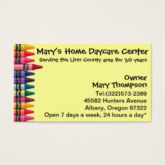 Daycare Babysitting Childcare Business Card