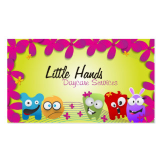 Daycare Business Card - Colorful Little Monsters