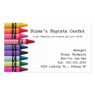 Daycare Childcare Business Card