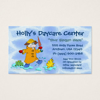 Daycare Or Child Care Business Card