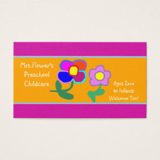Daycare/Preschool Business Card