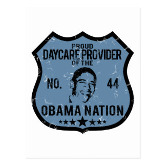 Daycare Provider Obama Nation Postcard